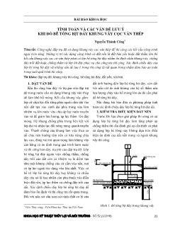 Tính toán và các vấn đề lưu ý khi đổ bê tông bịt đáy khung vây cọc ván thép